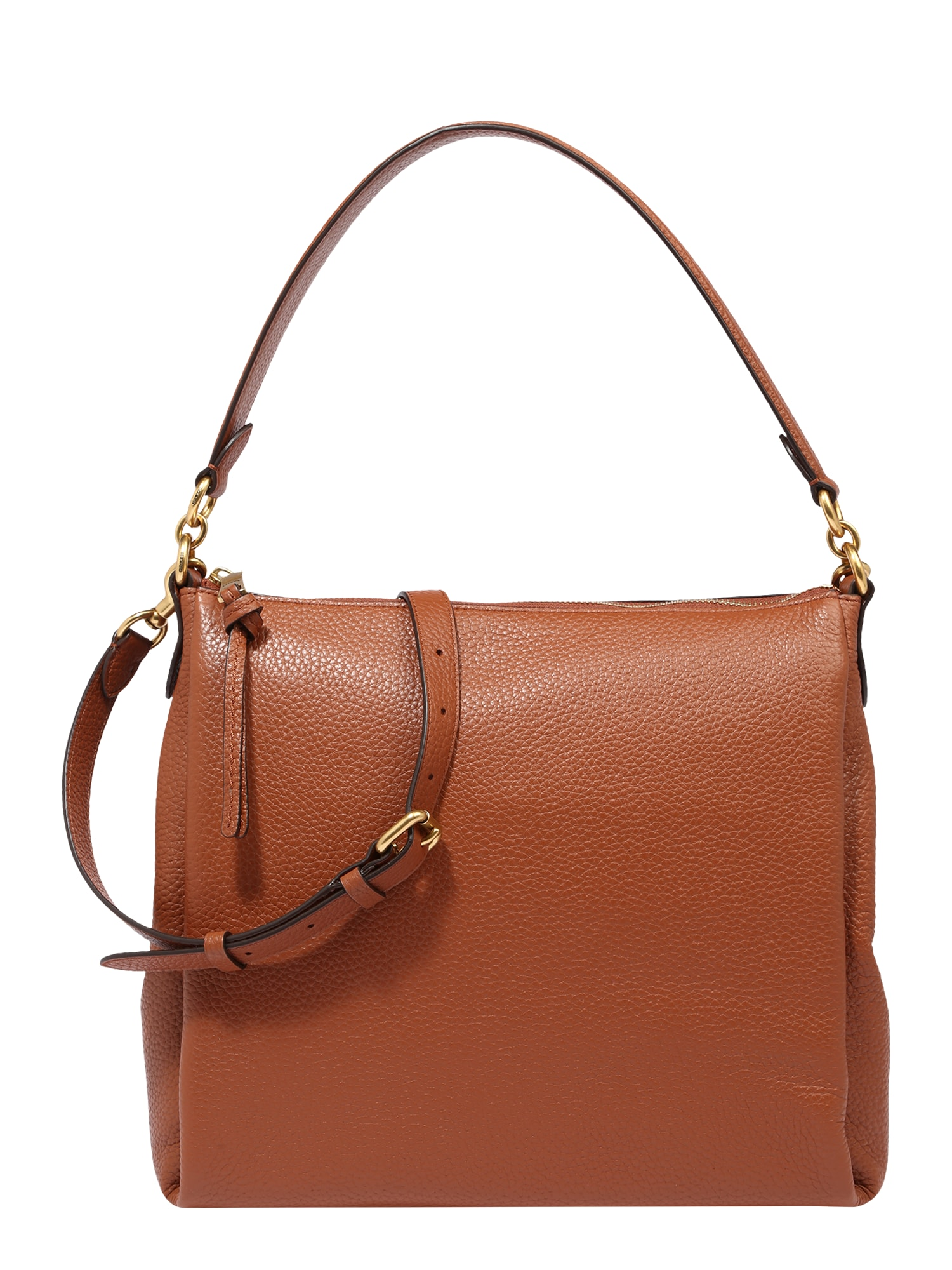 COACH Kabelka leather shay shoulder bag hnědá Coach