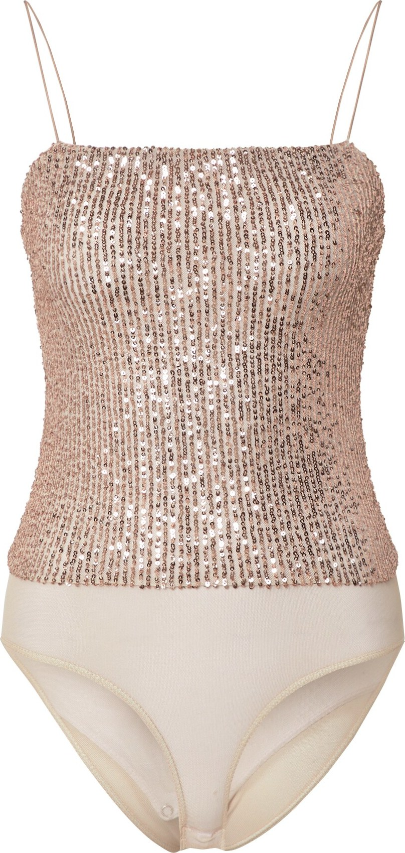 Top Sequin béžová Miss Selfridge