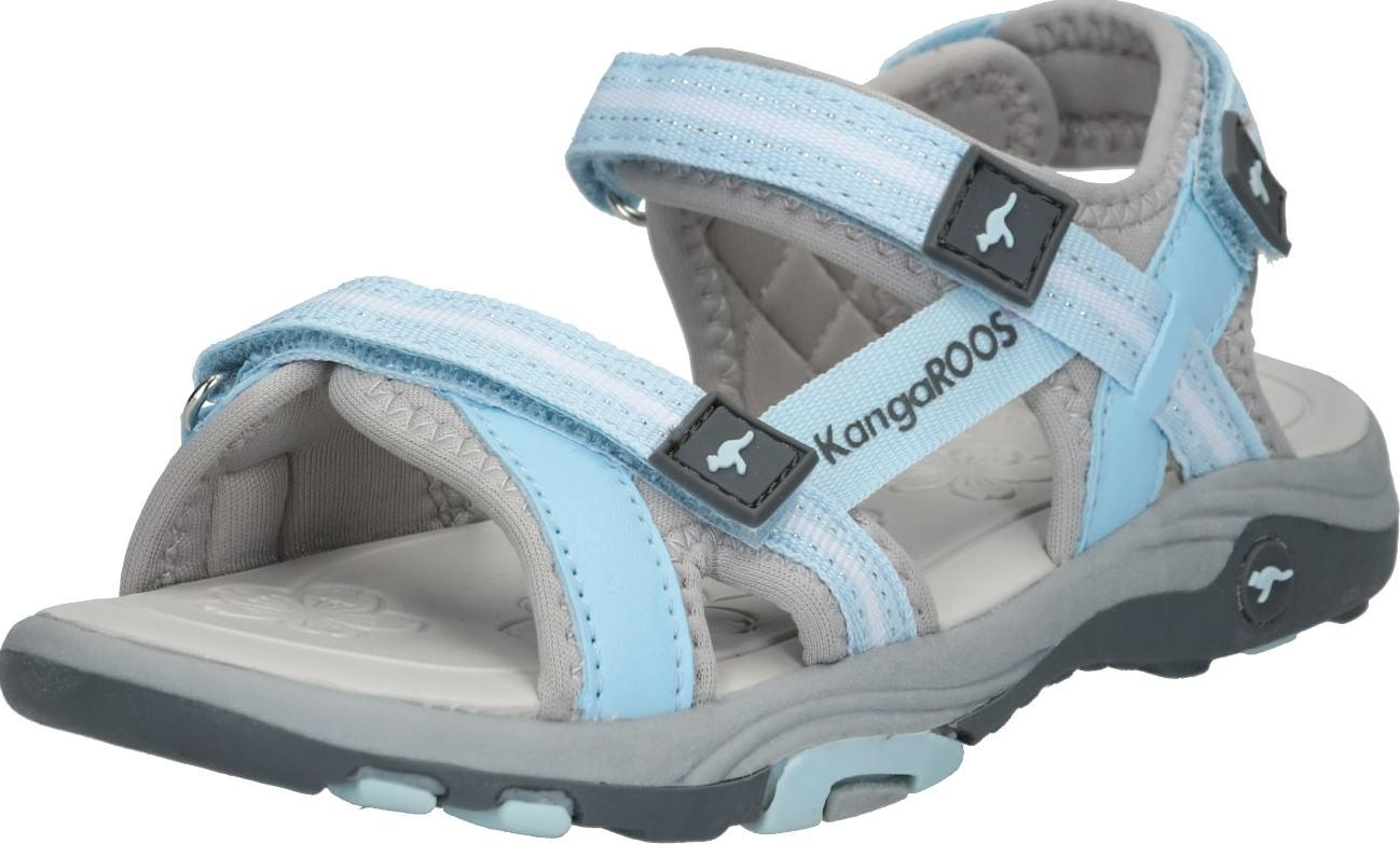 KangaROOS Otevřená obuv 'K-Leni' světlemodrá / šedá
