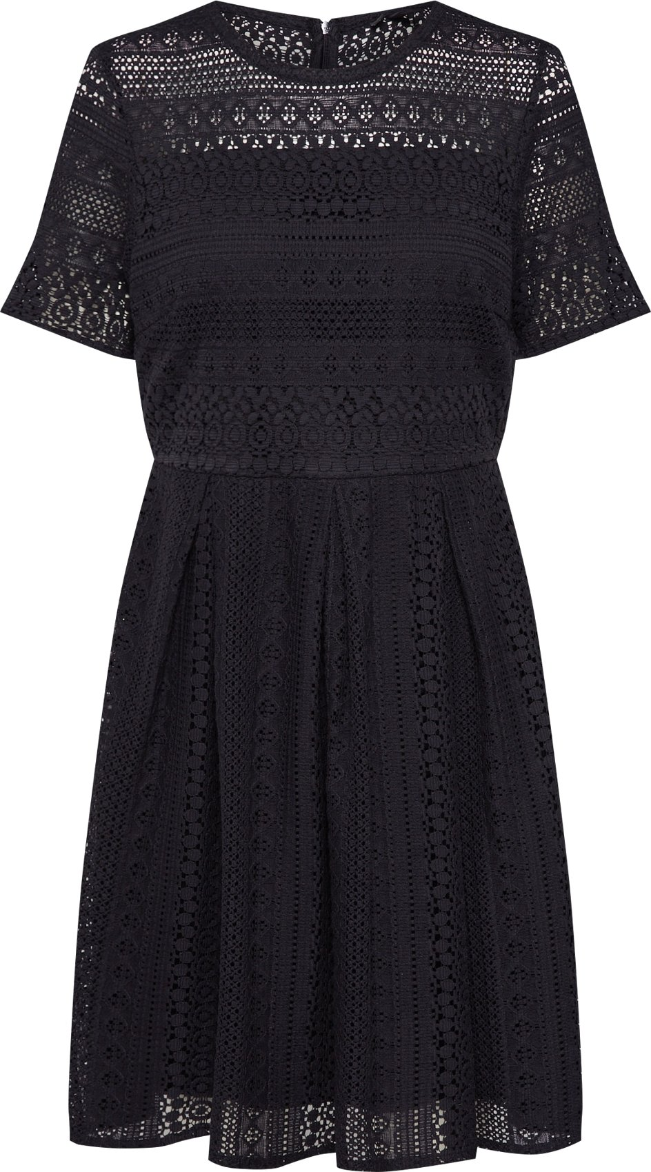 VERO MODA Šaty VMHONEY LACE PLEATED SS DRESS EXP černá Vero Moda