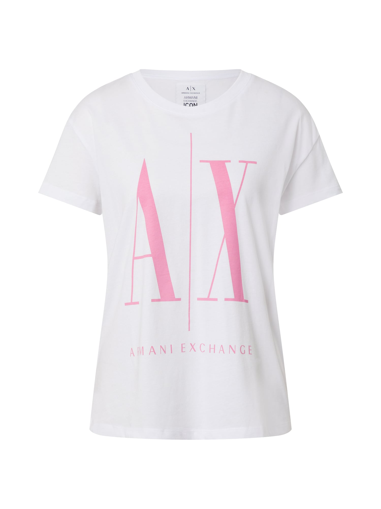 ARMANI EXCHANGE Tričko bílá pink Armani Exchange