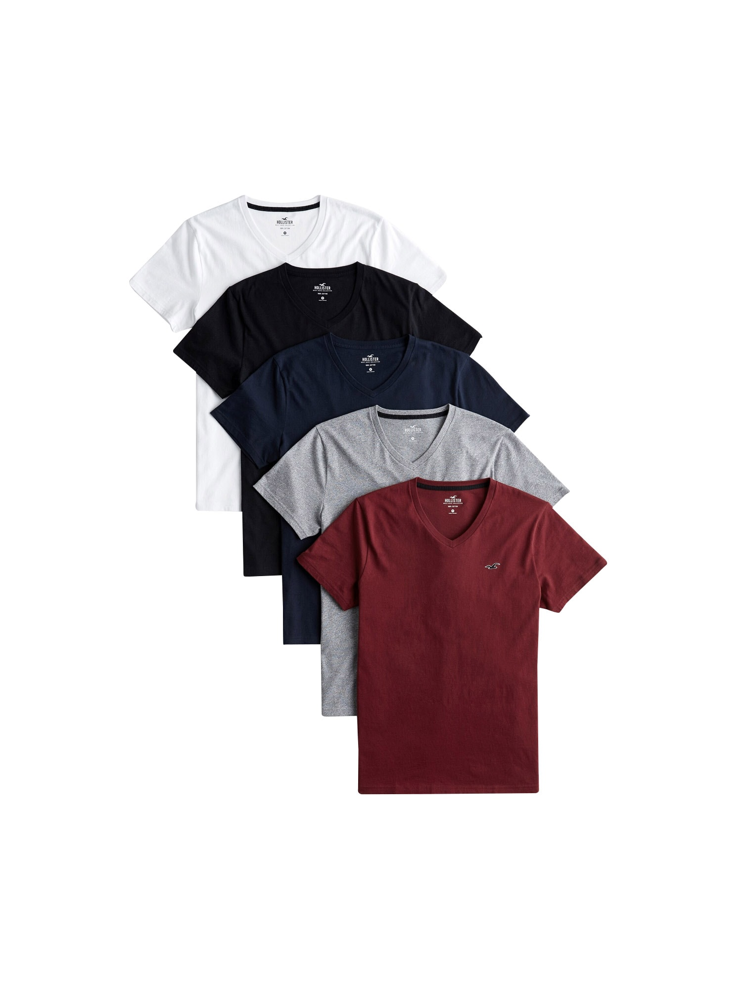 HOLLISTER Tričko 5PK mix barev Hollister