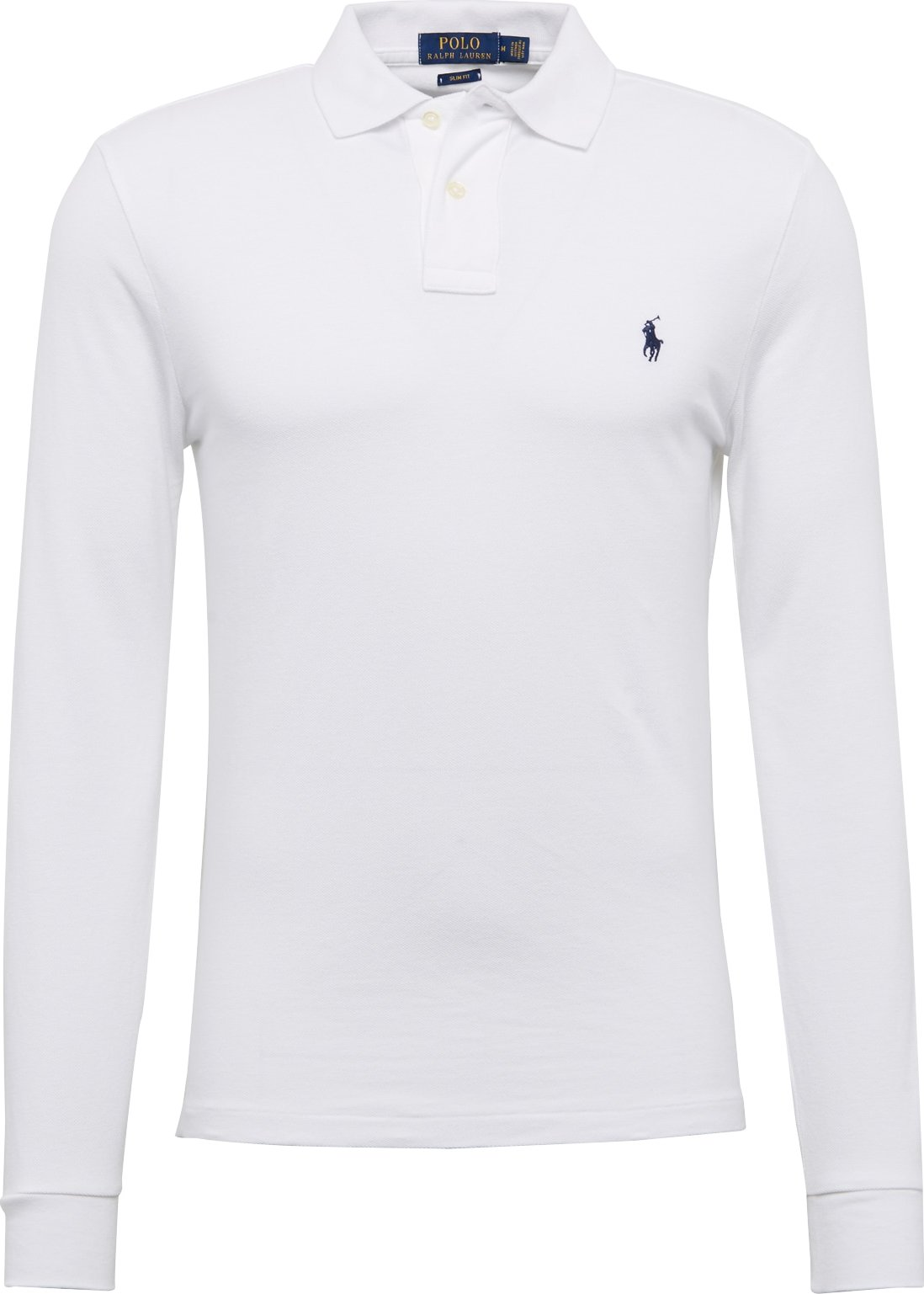 POLO RALPH LAUREN Tričko LSKCSLIMM2-LONG SLEEVE-KNIT bílá Polo Ralph Lauren