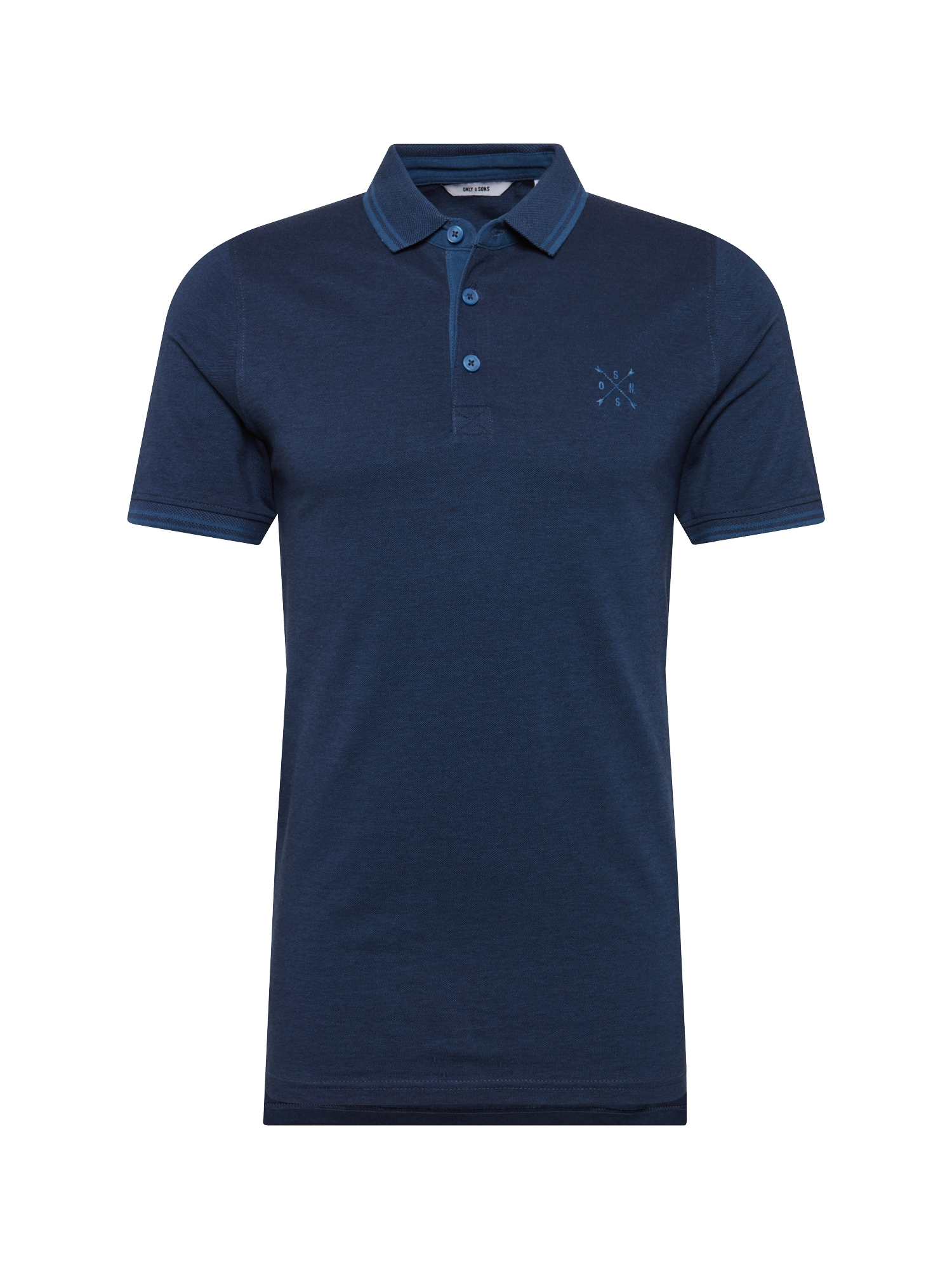 Only Sons Tričko onsSTAN SS FITTED POLO TEE NOOS námořnická modř ONLY & SONS