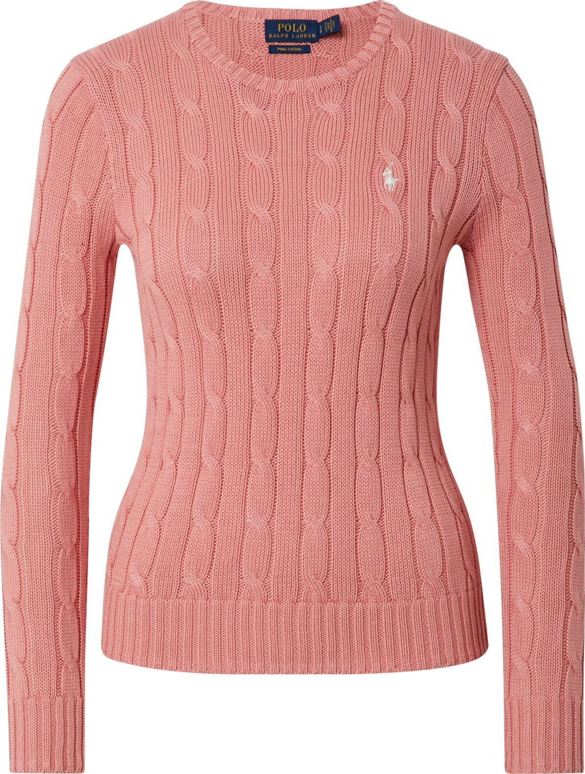 POLO RALPH LAUREN Svetr JULIANNA-CLASSICLONG SLEEVE-SWEATER růže Polo Ralph Lauren