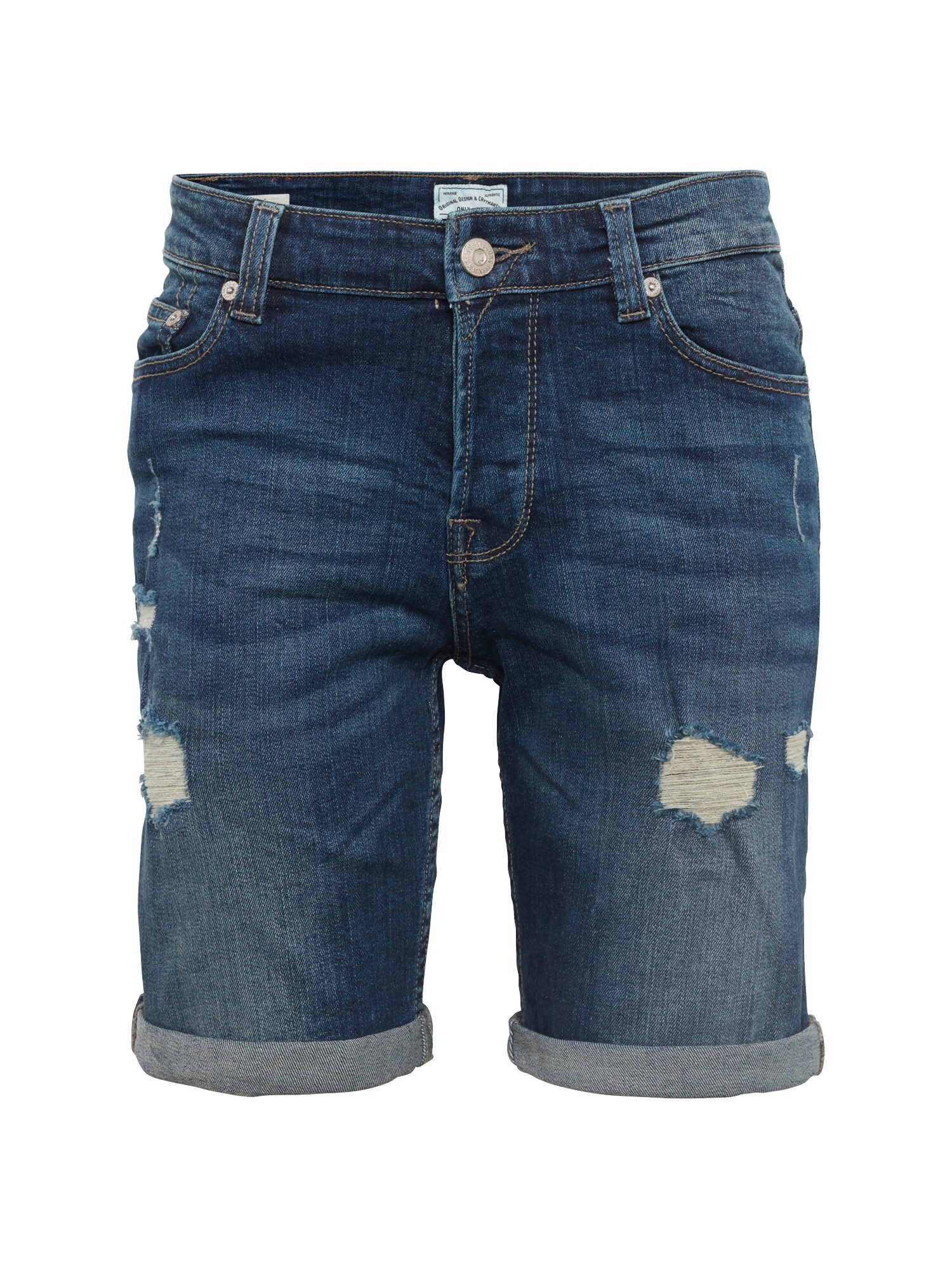 Only & Sons Džíny onsPLY SHORTS M BLUE DAMAGE CR 8603 NOOS indigo ONLY & SONS