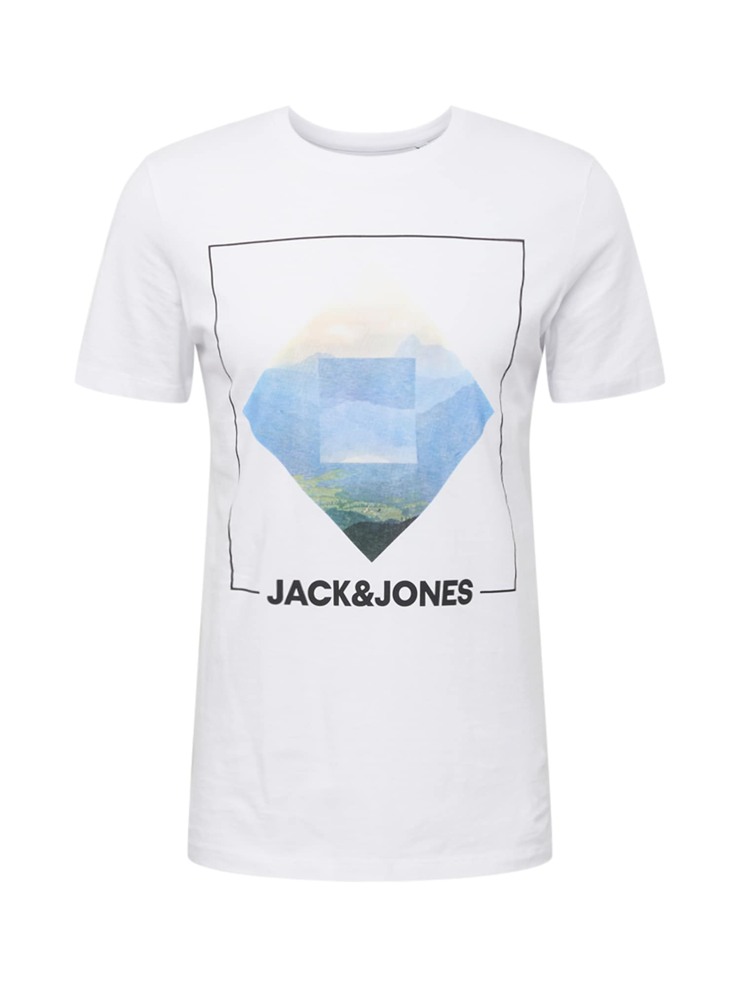JACK JONES Tričko Barista bílá Jack & Jones