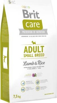 Brit Care Adult Small Breed Lamb & Rice - 7,5 kg