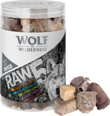 Wolf of Wilderness Snack - RAW 5 (Mix, sušeno mrazem) - 450 g (3 x 150 g)