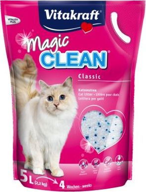 Vitakraft Magic Clean silikátové stelivo - 3 x 5 l