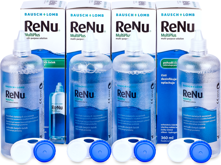 Roztok ReNu MultiPlus 4x 360 ml