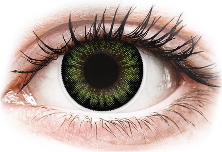 ColourVUE BigEyes - nedioptrické (2 čočky) Party Green