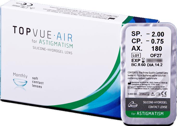 Levně Topvue Air for Astigmatism (1 čočka)