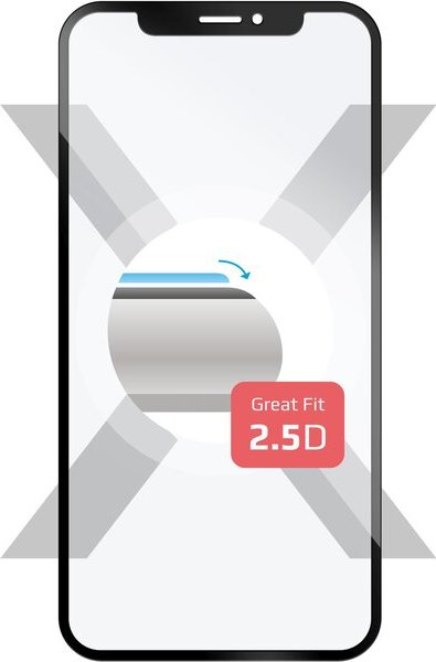 FIXED 2,5D Full-Cover tvrzené sklo 0,33mm Huawei Y7 Prime (2018) černé