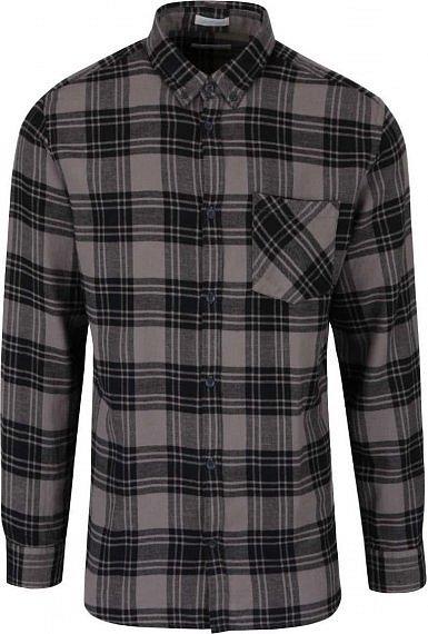 Šedo-černá kostkovaná flanelová košile Jack   Jones Peter » cb0d3c07b6