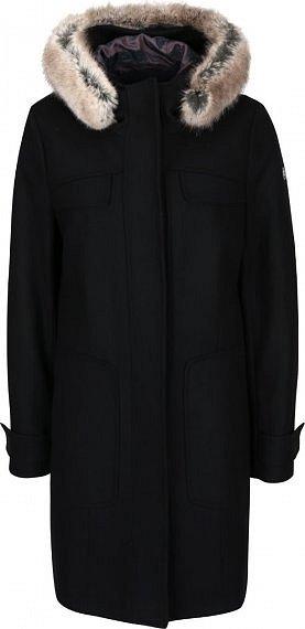 Černý dámský vlnený kabát s kapucí bugatti » ff1a7c21a6