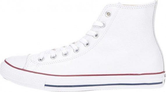 Bílé unisex kožené kotníkové tenisky Converse Chuck Taylor All Star » 8d9844bab4