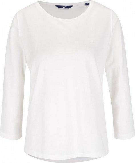 da484545a876 Nejlepší Krémové dámské tričko s 3 4 rukávem GANT Pique