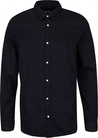 Tmavě modrá košile se vzorovanou podšívkou Jack   Jones » 89e36c9d79