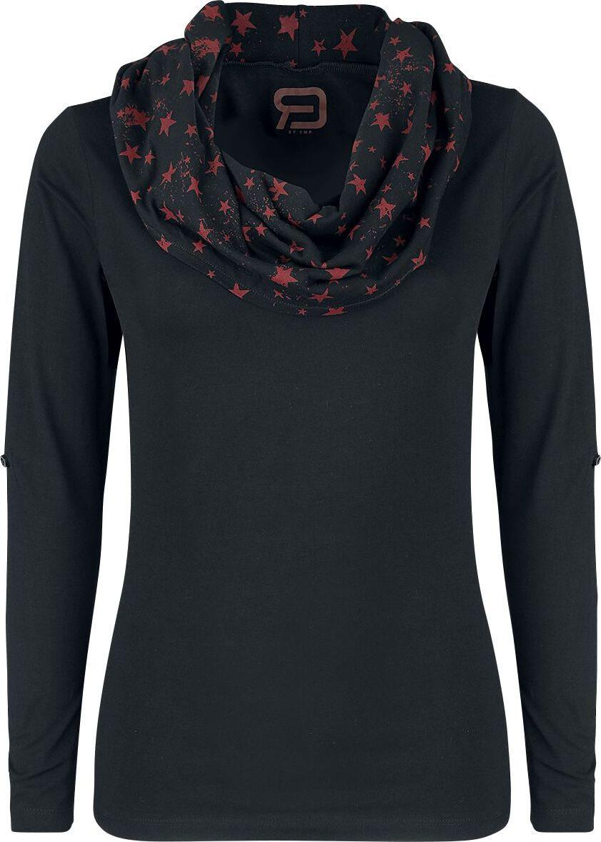 RED by EMP Up The Neck dívcí triko s dlouhými rukávy černá