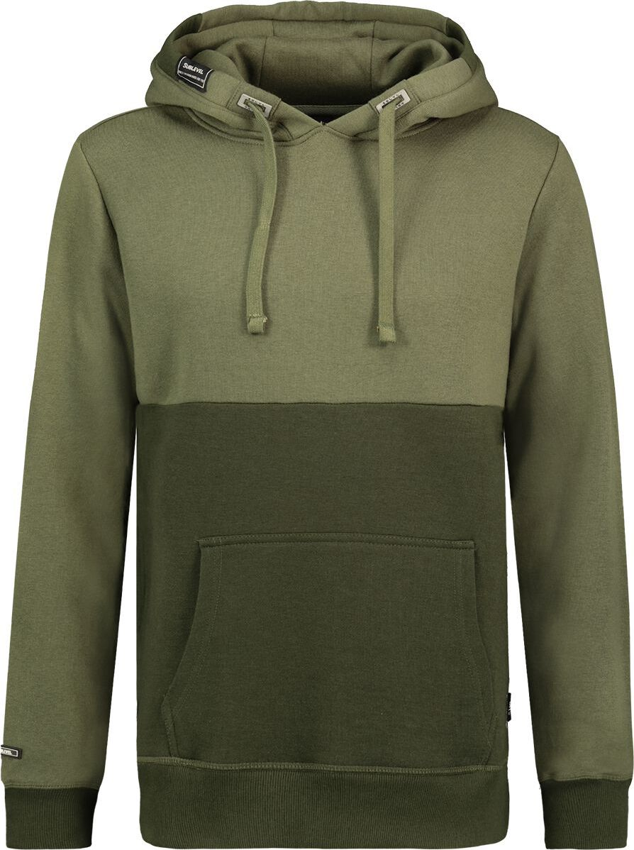 Sublevel Men's Hooded Sweatshirt mikina s kapucí na zip zelená