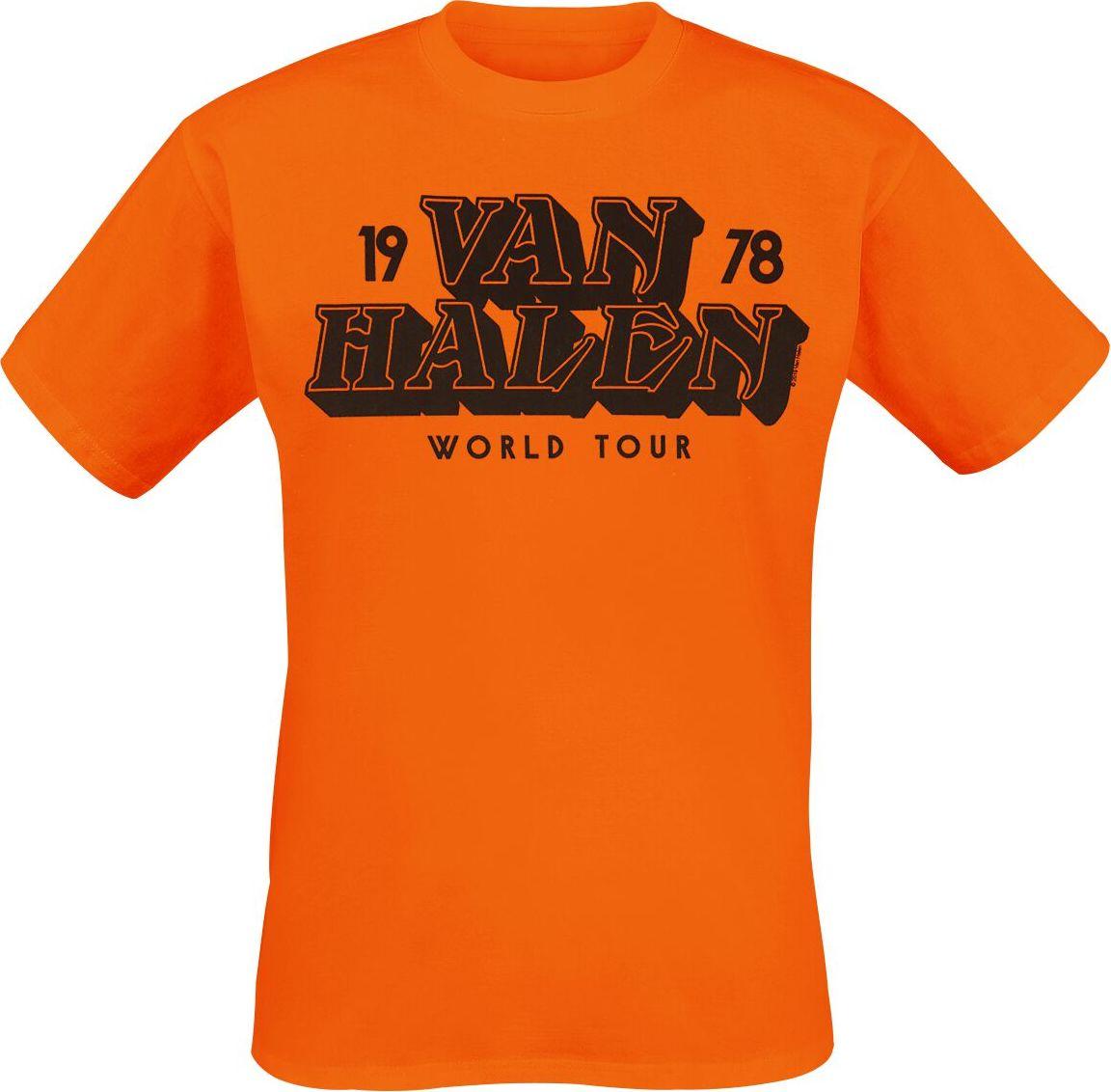 Van Halen Tour 1978 tricko oranžová