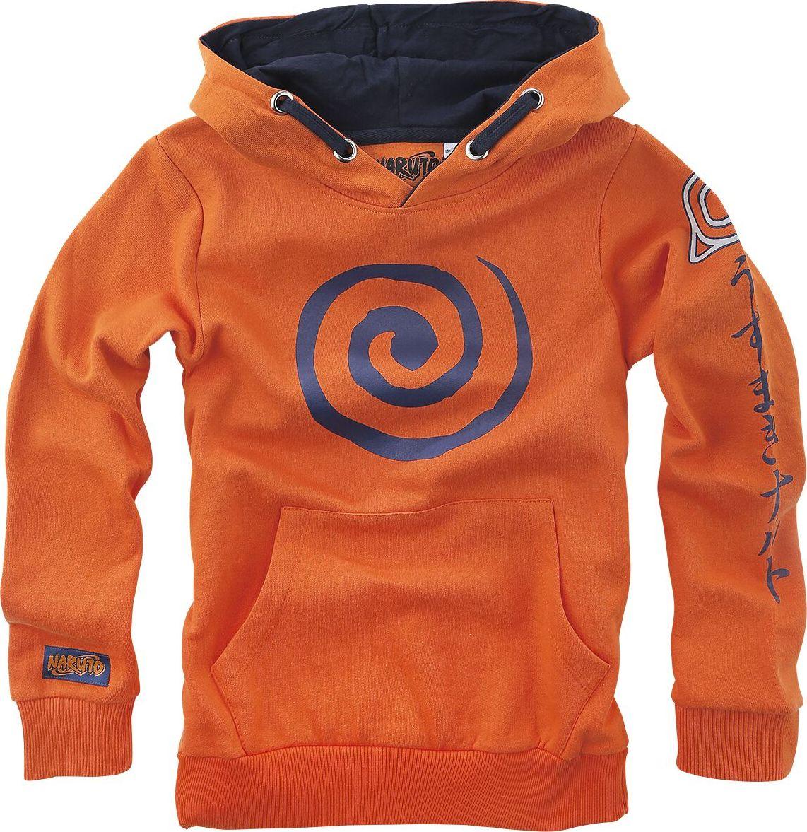 Naruto Sign detská mikina s kapucí oranžová