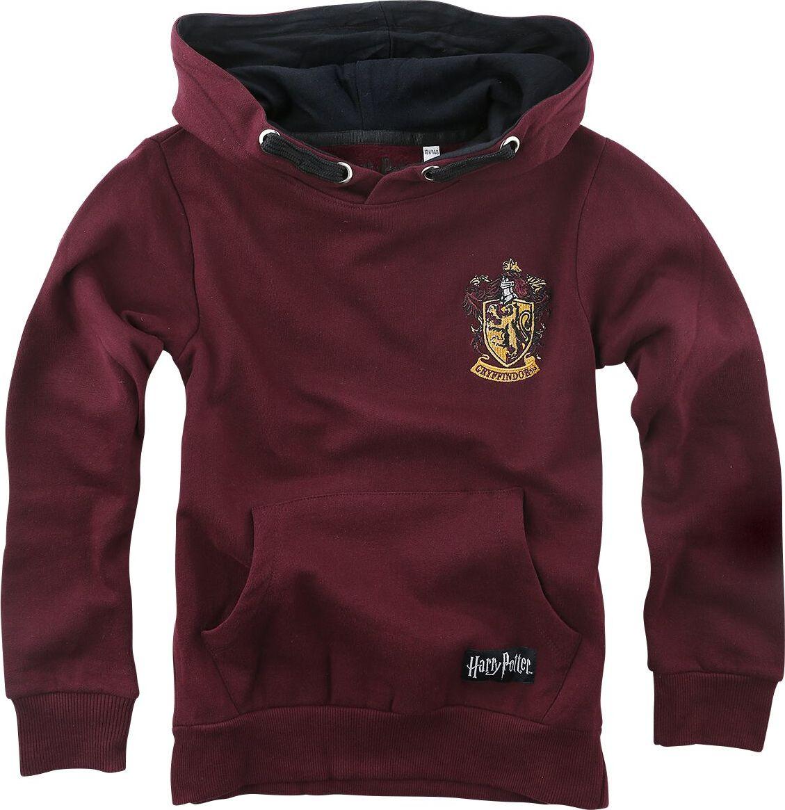 Harry Potter Gryffindor detská mikina s kapucí bordová