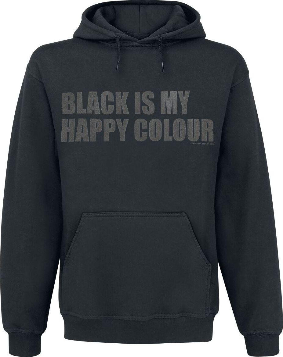 Black Is My Happy Colour mikina s kapucí černá