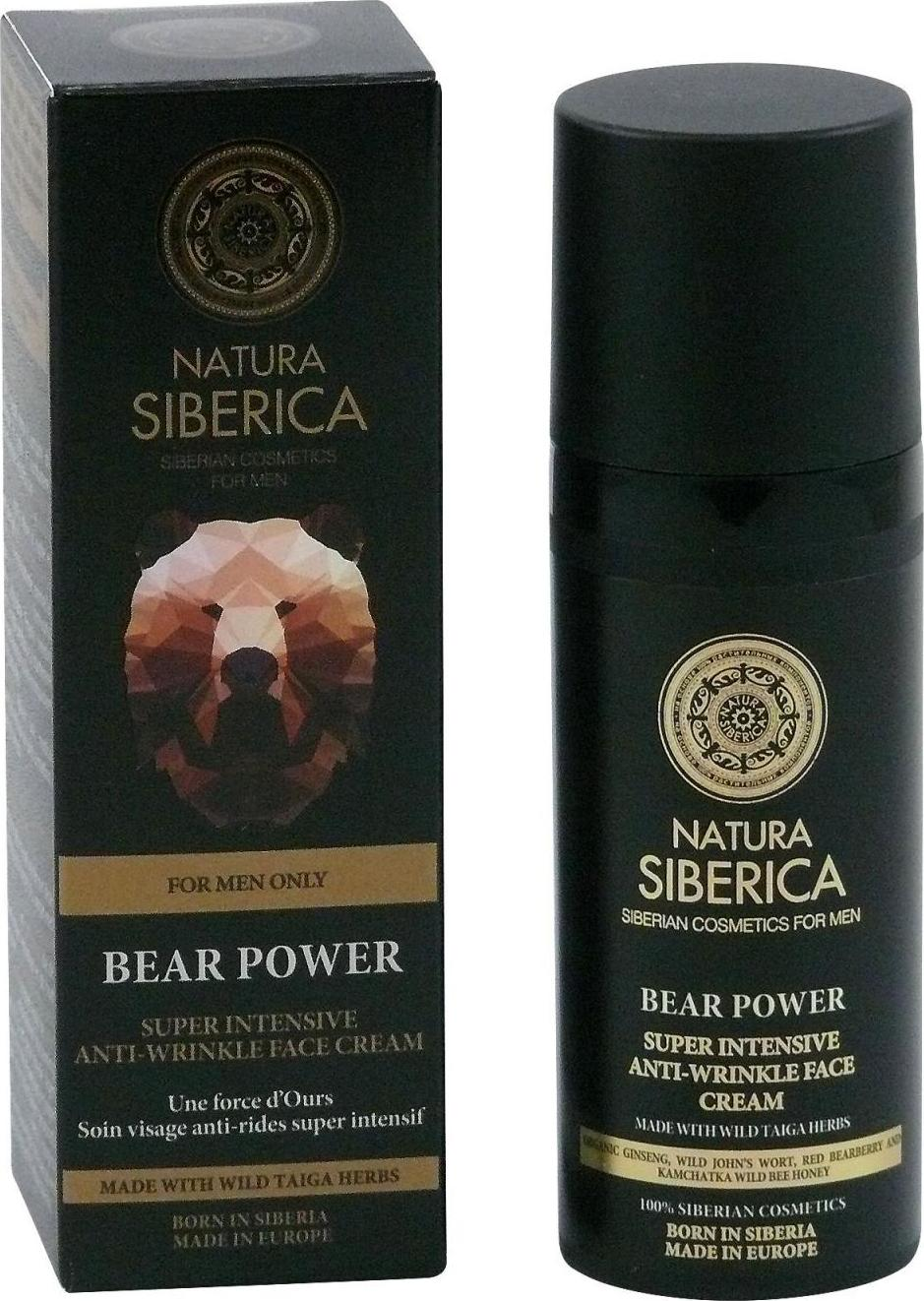 Natura Siberica Super intenzivní krém proti vráskám Medvědí síla For men only 50 ml