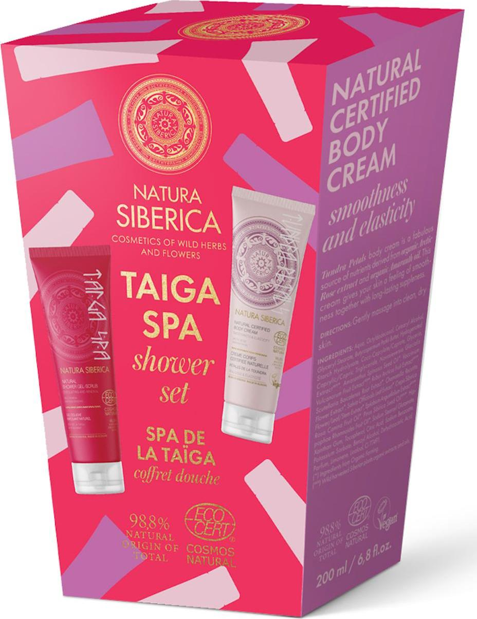 Natura Siberica Taiga spa sprchový set 1 ks 2 x 200 ml