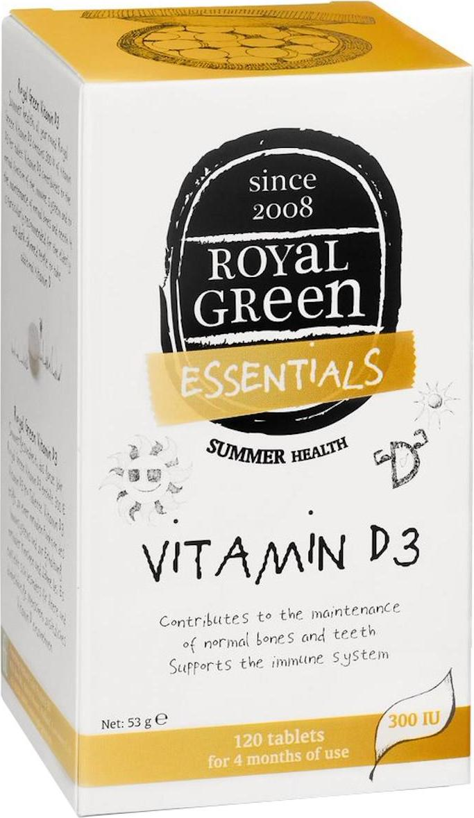Royal Green Vitamín D3 tablety 120 ks 53 g