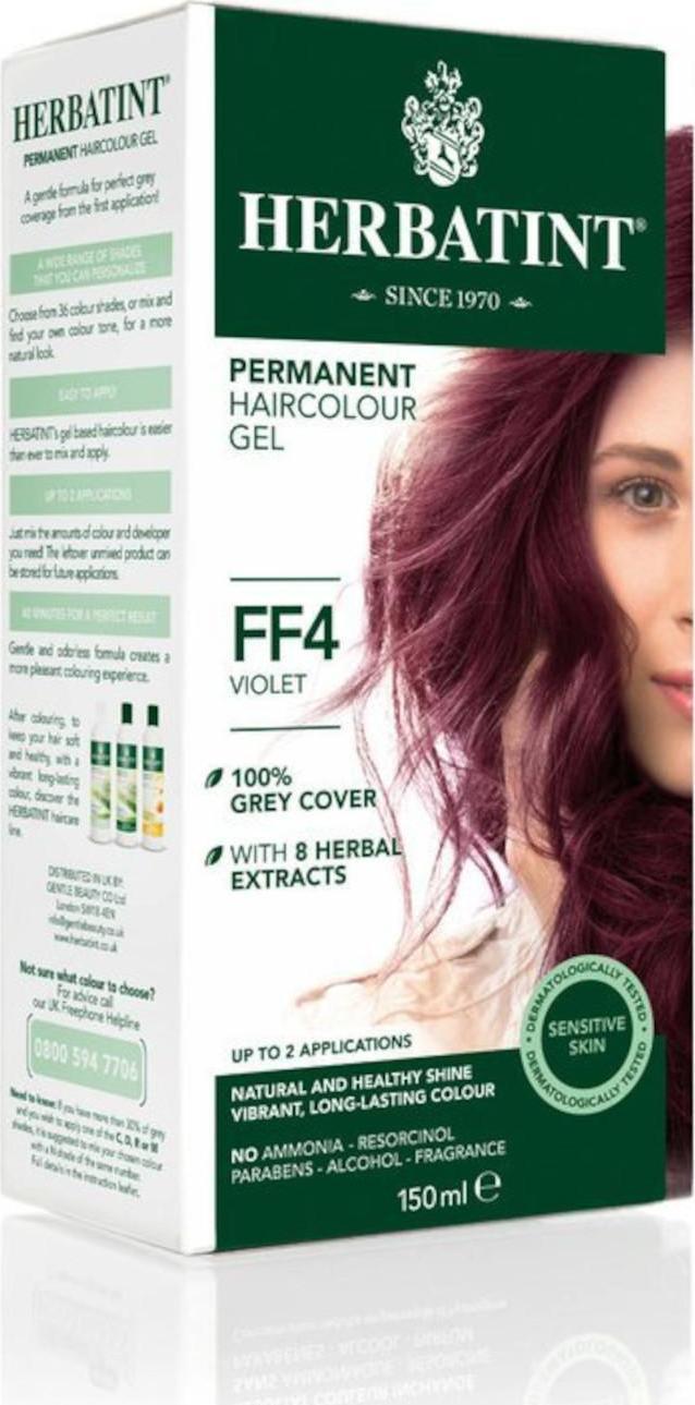 E-shop HERBATINT Permanentní barva na vlasy fialová FF4 150 ml