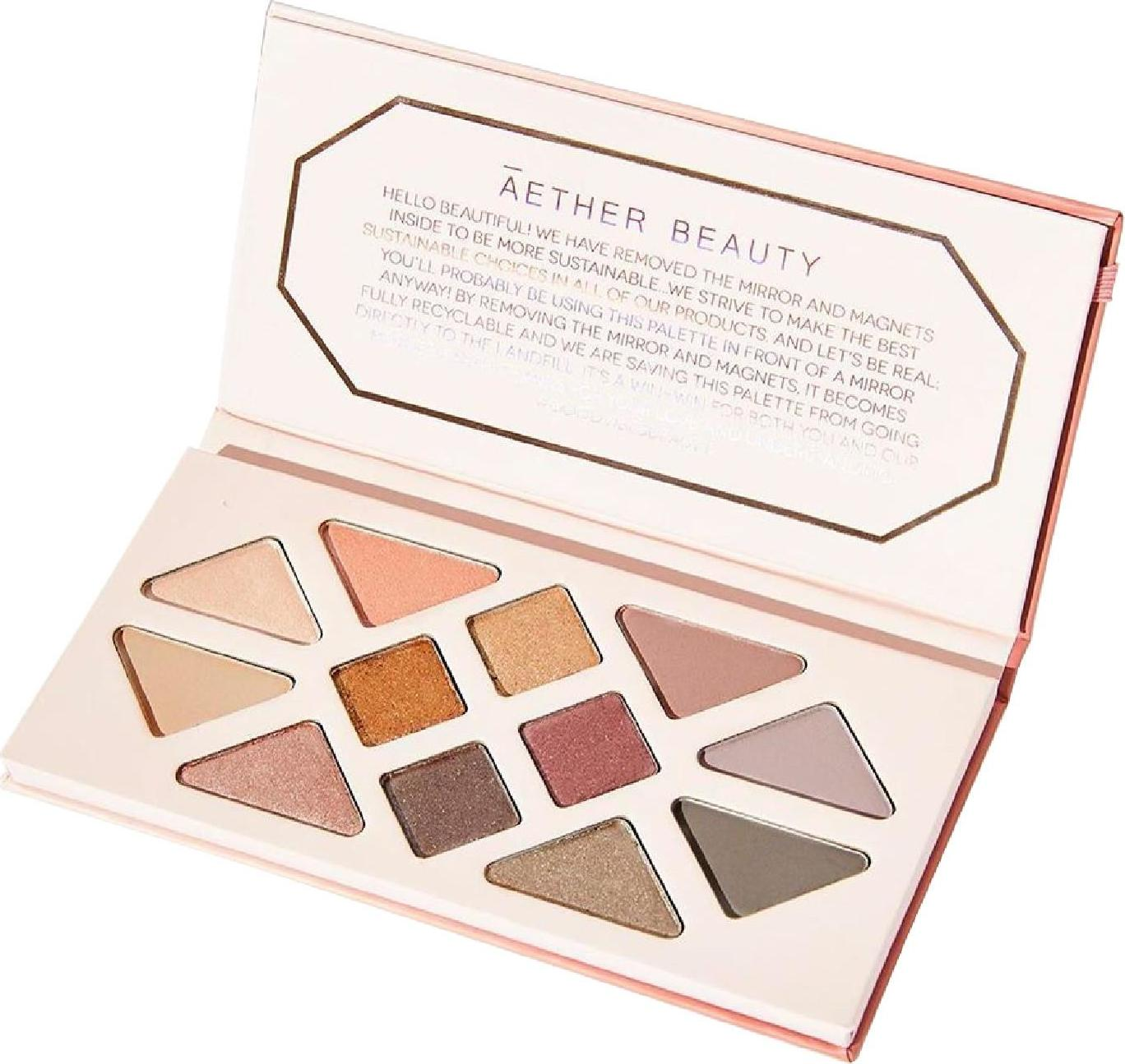 Aether Beauty Rose Quartz Crystal Gemstone paleta očních stínů 1 ks