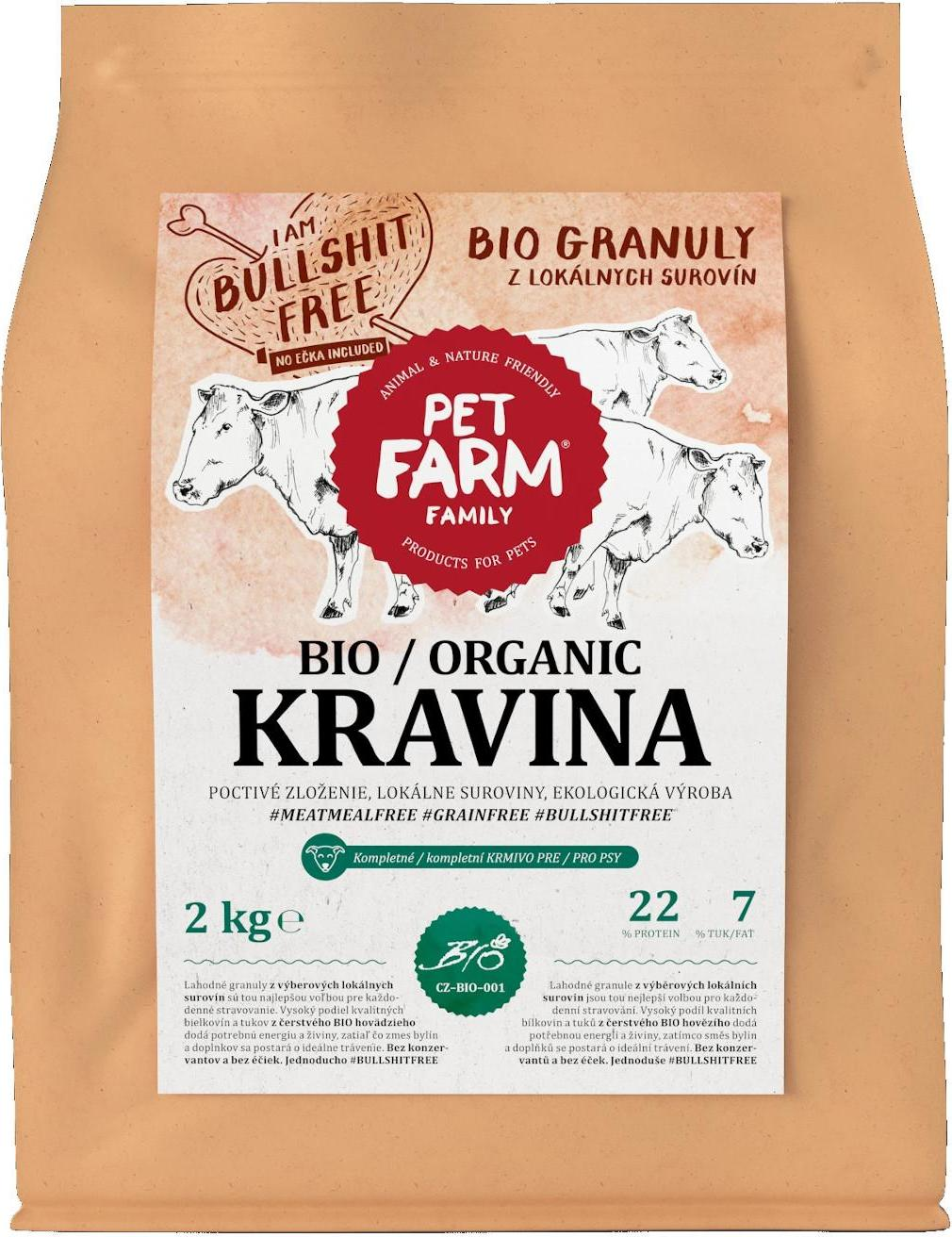 Pet Farm Family Bio Kravina – Granule 2 kg