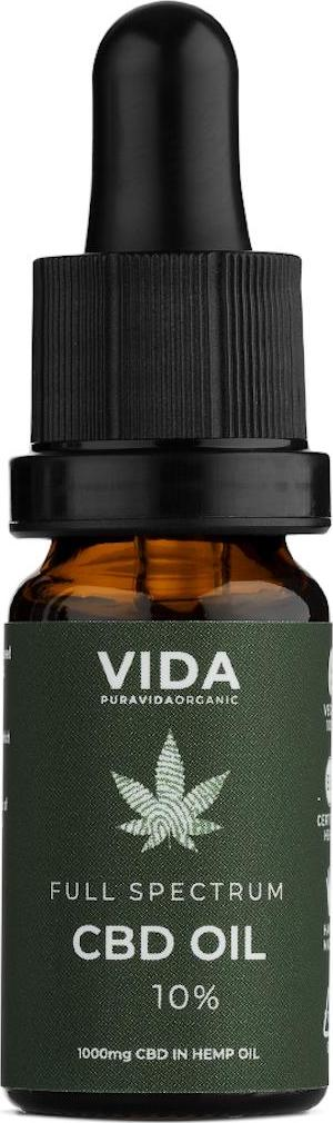 Pura Vida Organic CBD olej 10 Full spectrum 10 ml