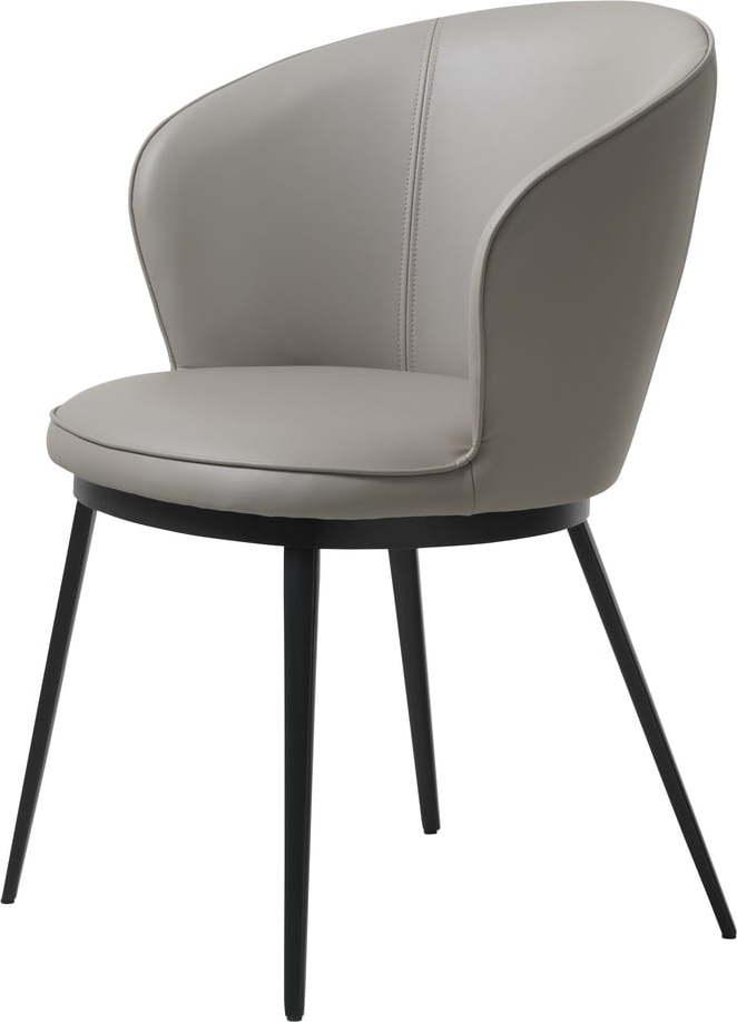 Šedé křeslo Unique Furniture Gain