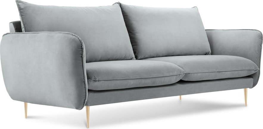 Světle šedá pohovka se sametovým potahem Cosmopolitan Design Florence Miss Sixty