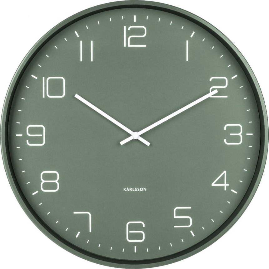 Zelené nástěnné hodiny Karlsson Lofty,ø40cm Miss Sixty