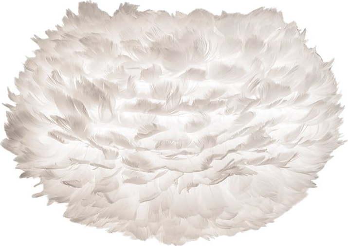 Bílé stínidlo z husího peří VITA Copenhagen EOS, ⌀45cm