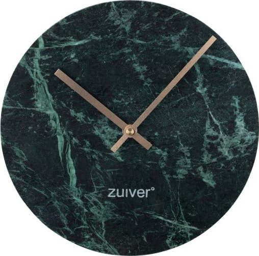 Zelené nástěnné mramorové hodiny Zuiver Marble Time Miss Sixty