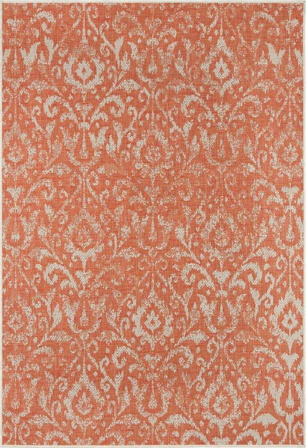 Oranžovo-béžový venkovní koberec Bougari Hatta, 70 x 140 cm