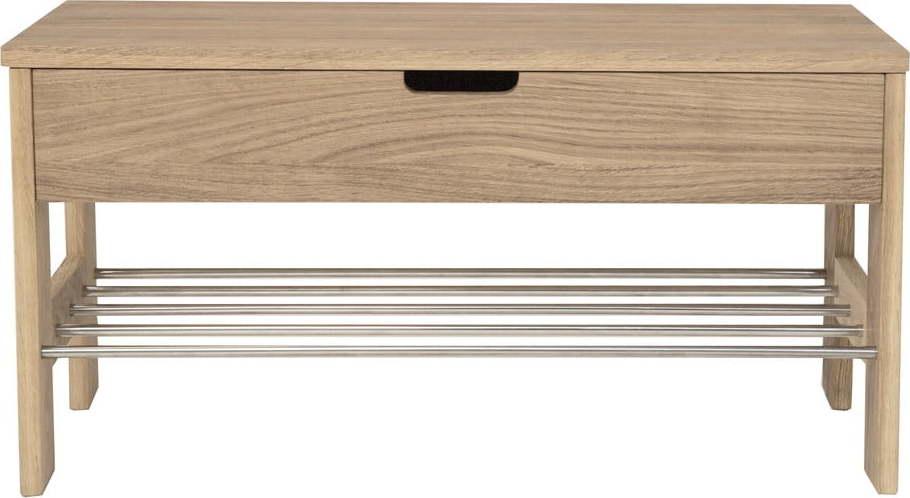 Lavice s úložným prostorem z dubového dřeva Canett Uno