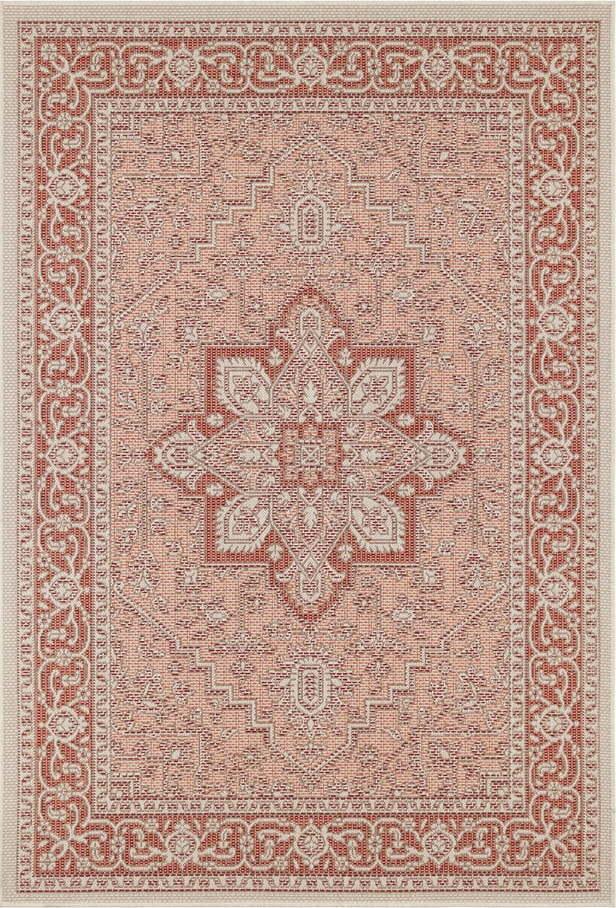 Červeno-béžový venkovní koberec Bougari Anjara, 140 x 200 cm