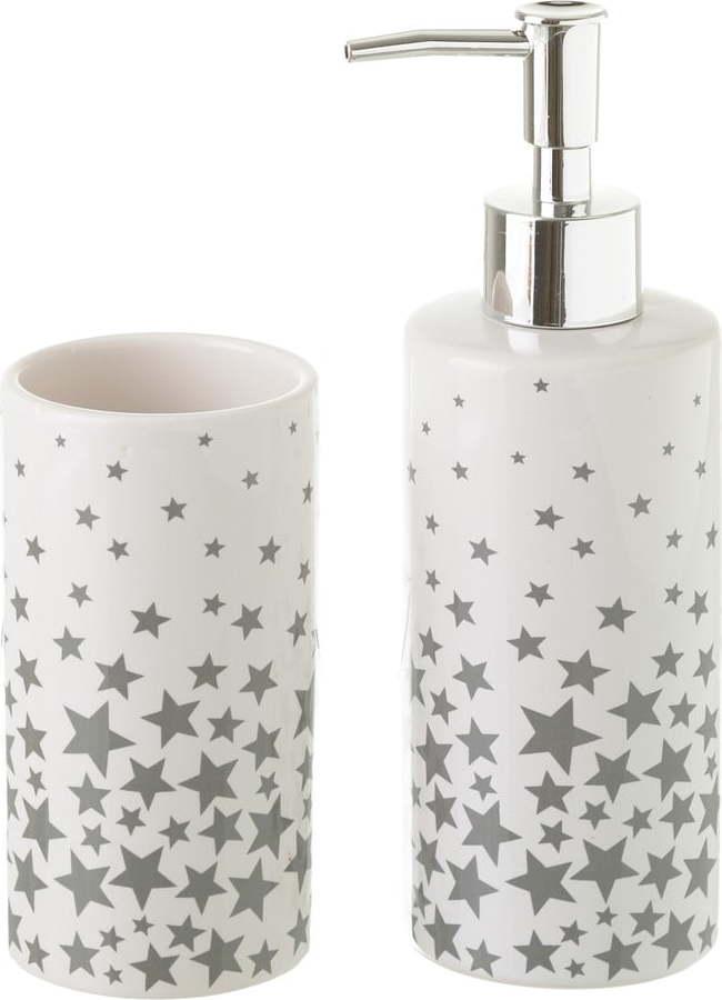 E-shop Set keramického kelímku a dávkovače na mýdlo Unimasa Stars