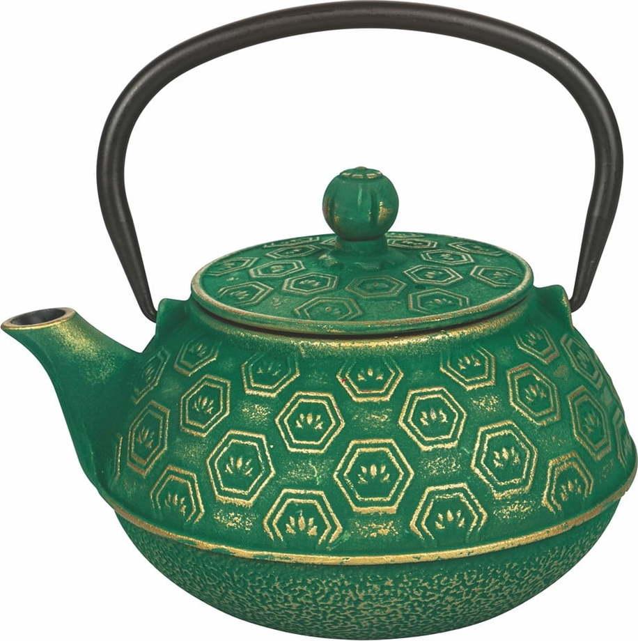 Zelená litinová konvička na čaj Villa d'Este Hosaka, 800 ml