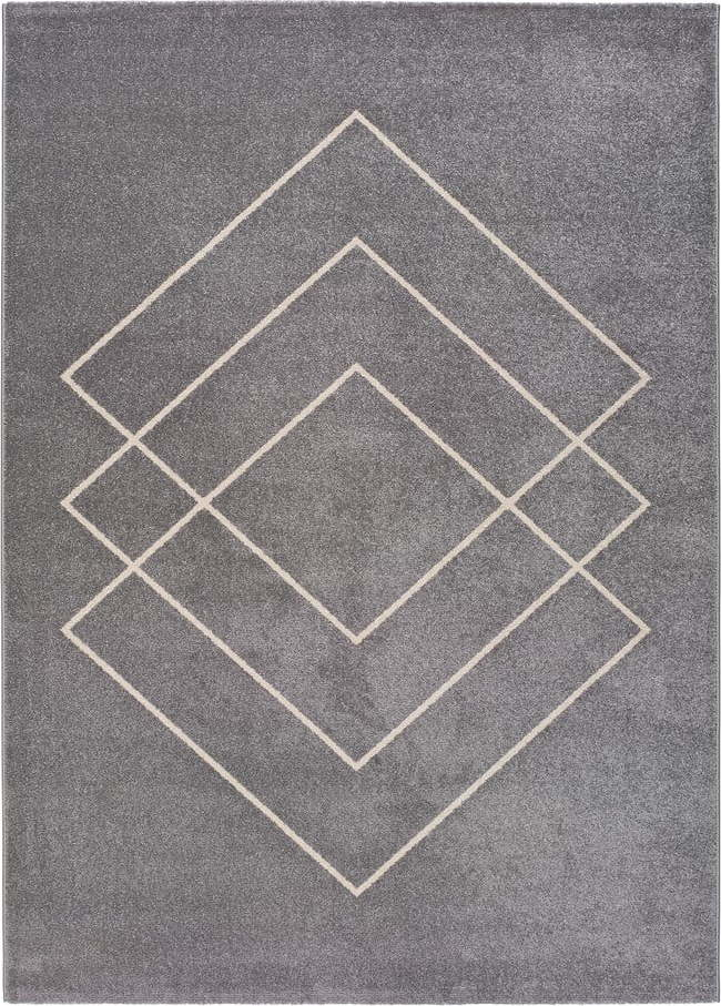 Šedý koberec Universal Breda, 133 x 190 cm