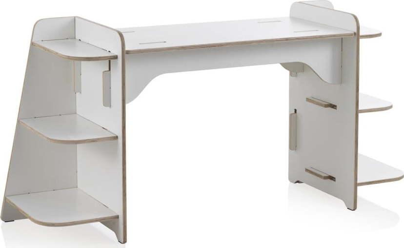 Bílý dětský psací stůl z překližky Geese Piper