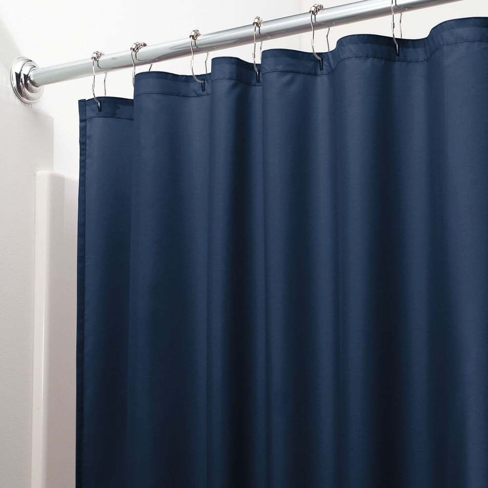 Modrý sprchový závěs iDesign, 200 x 180 cm