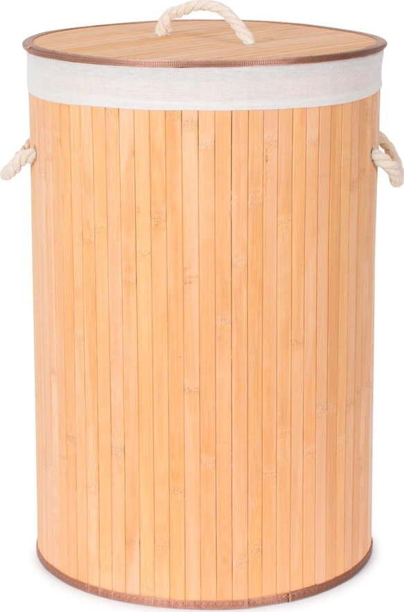 Kulatý bambusový koš na prádlo Compactor Round